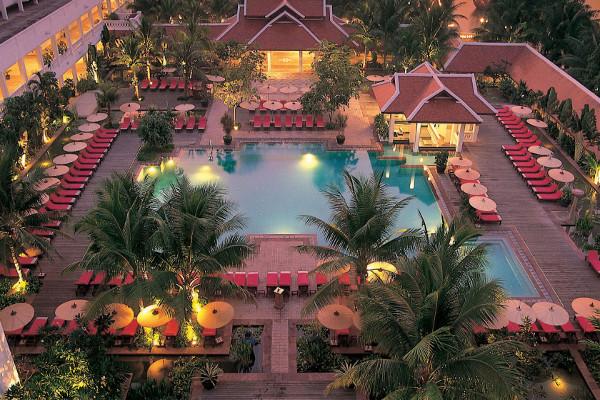 Anantara Bangkok Riverside Resort Spa -Poolside View 1