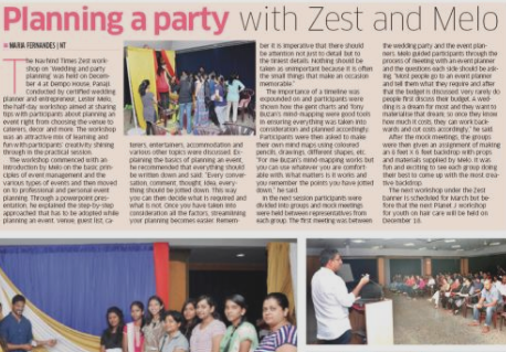 Planning a Party with Zest by Navhind Times