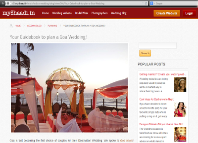 Mentioned in myshaadi.in