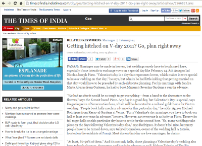 Featured in Times of India