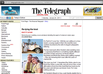 Featured in The Telegraph